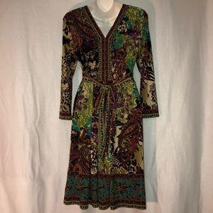ECI Dresses - Beautiful Multi-color Print Dress
